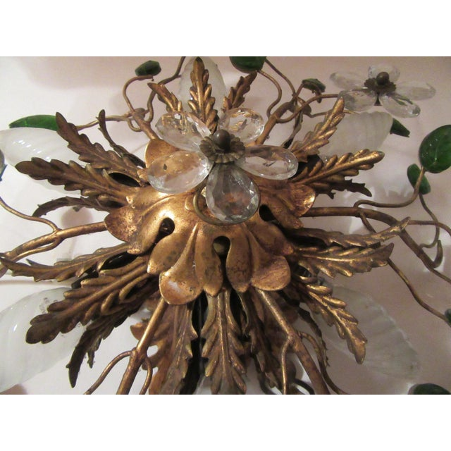 C. 1950's Mid Century Authentic French Maison Bagues Ceiling Mount Light Fixture For Sale - Image 9 of 13