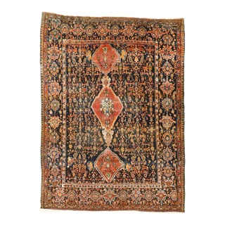 Antique Sarouk Farahan Persian Rug For Sale