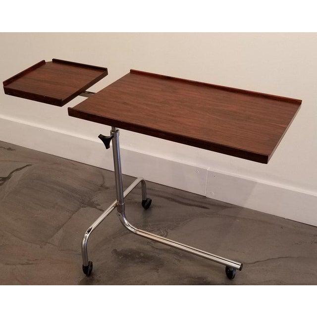 Danish Modern Danecastle Aps Rosewood Adjustable Bedside Desk or Table For Sale - Image 3 of 13