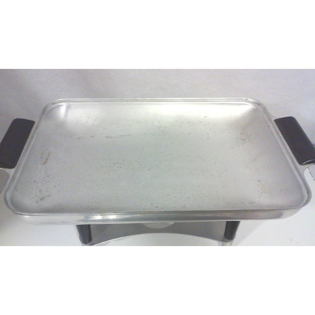 Machine Age Deco Aluminum Chafing Dish For Sale - Image 7 of 8