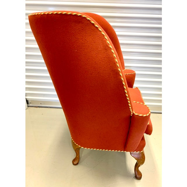 Red Minton Spidell Papa Bear Upholstered Chair Sculptural Wingback Chair For Sale - Image 8 of 12
