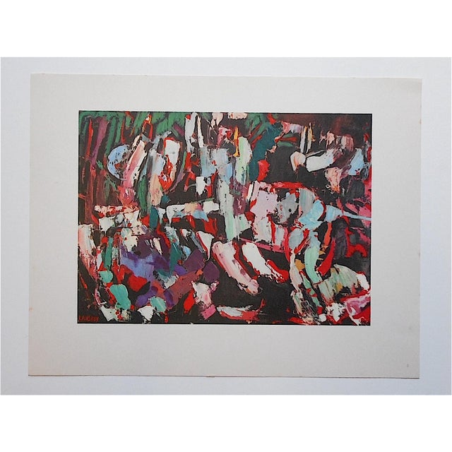 Abstract Expressionism Vintage Modernist Lithograph-Lanskoy For Sale - Image 3 of 3