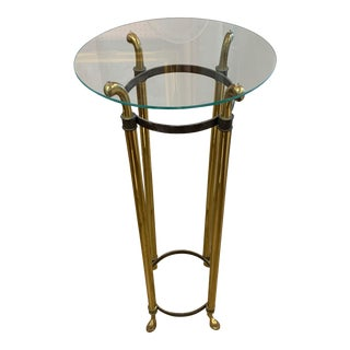 1940s Solid Brass Tall Plant Stand For Sale