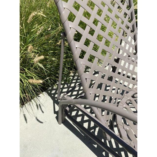 Metal Vintage Brown Jordan Tamiami Chaise For Sale - Image 7 of 8