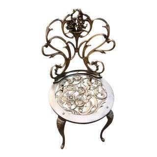 Vintage Rococo Ornate Iron Chair
