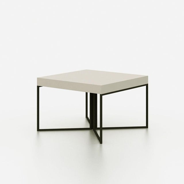 Gray Contemporary Side Table - Image 3 of 3