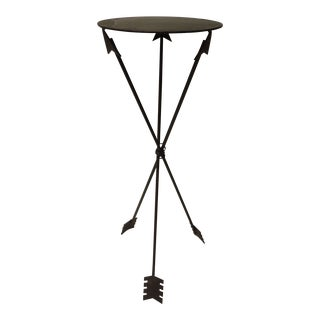 Vintage French Rustic Arrows Side Table