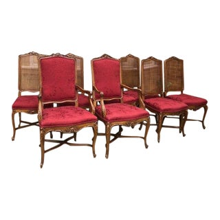 Mid-Century John Widdicomb Cane Dining Chairs - Set of 8 For Sale