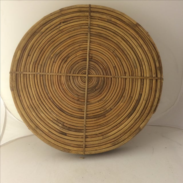 Rattan Brass-Edged Serving Trays - A Pair - Image 10 of 10