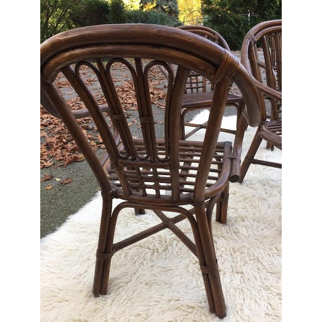 Vintage Rattan Chairs - Set of 4 - Image 5 of 8