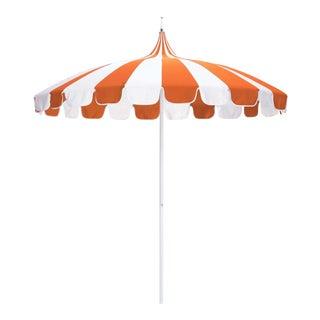 Casa Cosima 8.5' Classic Jardins Patio Umbrella in Tuscan and Natural Sunbrella For Sale