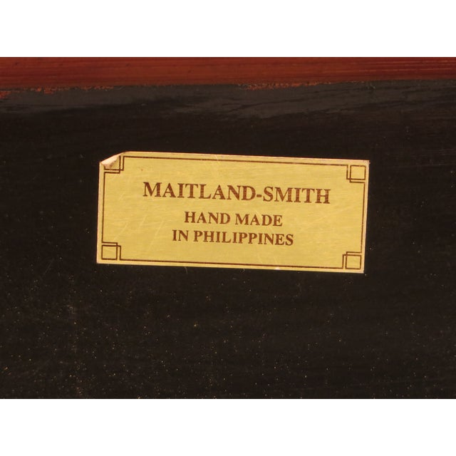 Maitland-Smith Bow Front Woven Leather Chest For Sale - Image 10 of 11