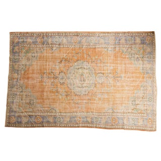 "Intage Distressed Oushak Carpet - 6'7"" X 9'10"" For Sale"