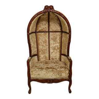 French Louis XV Style Hooded Porters Chair For Sale