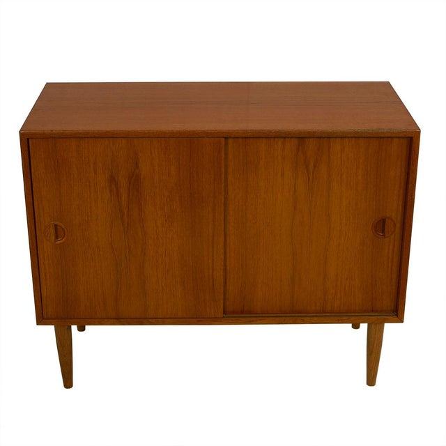 Petite Danish Modern Teak Bar Cabinet - Image 2 of 10