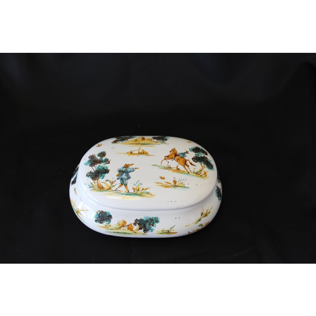 Vintage Ernan Albisola Italian Ceramic Lidded Trinket Box For Sale - Image 11 of 11