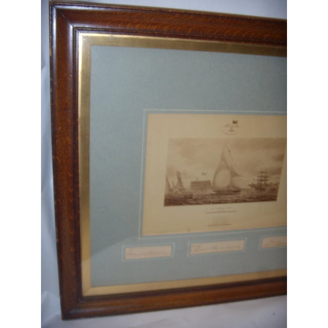 Framed Photo of The Terrible Fiona Yacht, 1899 - Image 9 of 11