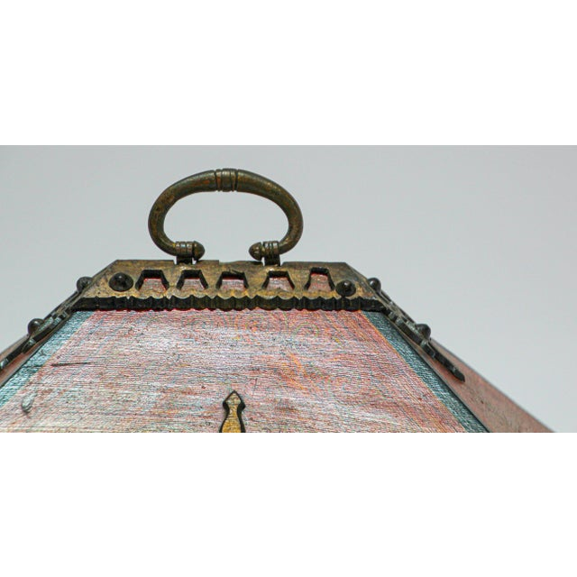 Gold Large Decorative Indian Jewelry Box With Brass, Kerala Nettur Petti For Sale - Image 8 of 13