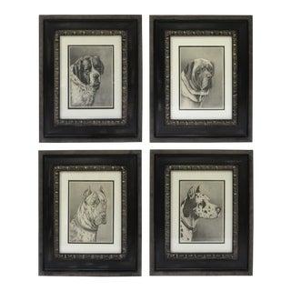 Jean Bungartz Framed Dog Portraits - Set of 4 For Sale