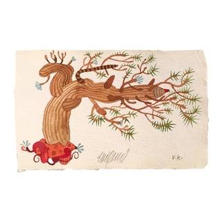 """""""Pine Bonsai"""" Original Watercolor Painting For Sale"""
