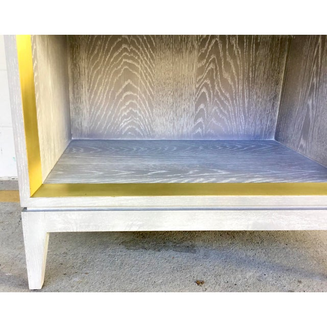 Bungalow 5 Bungalow 5 Modern Cerused Gray Finished One Drawer Side Table For Sale - Image 4 of 8