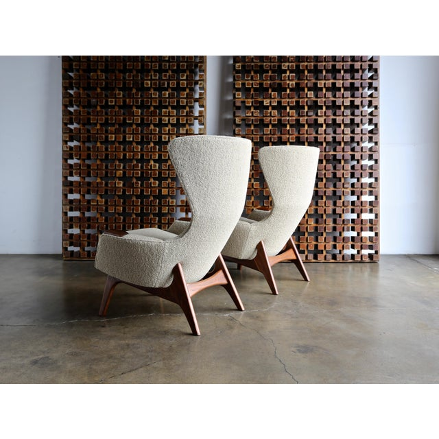 Craft Associates Adrian Pearsall for Craft Associates Wing High Back Chairs - a Pair For Sale - Image 4 of 13