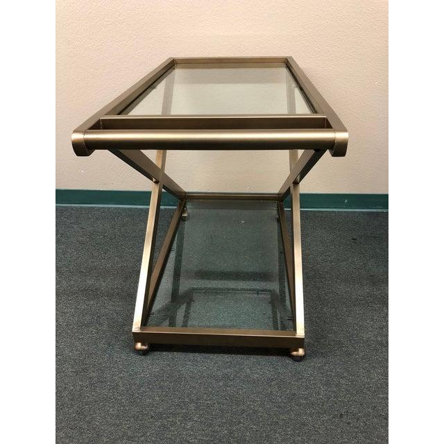 Modern Restoration Hardware Milo Bar Cart For Sale - Image 3 of 11