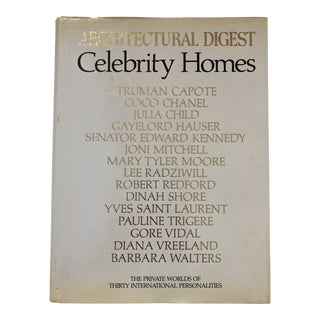 1977 Architectural Digest Celebrity Homes First Edition Interior Design Book For Sale