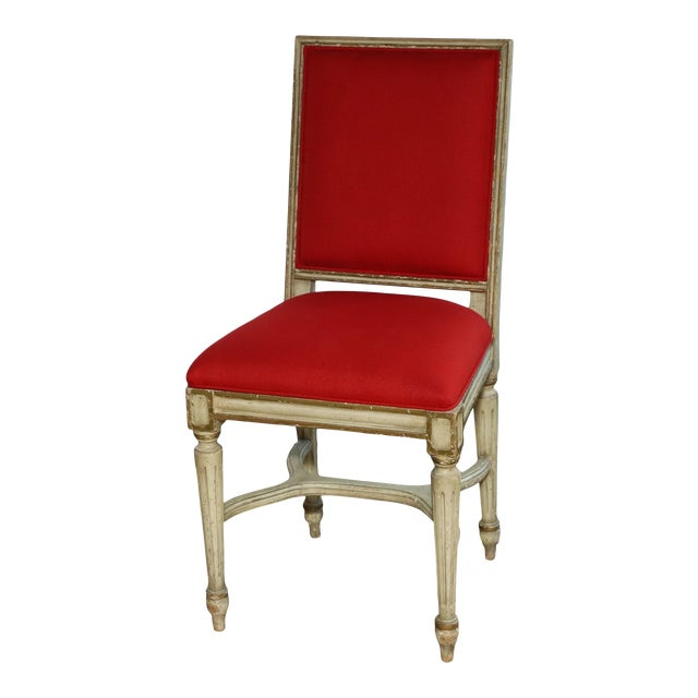 1980s French Provincial Side Chair For Sale
