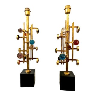 Albano Poli for Poliarte Lamps - a Pair For Sale