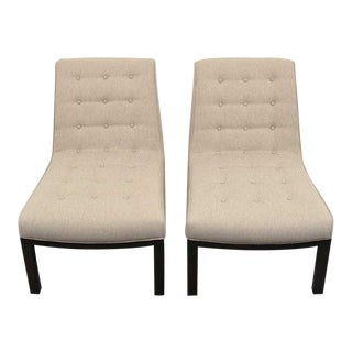 Vintage Mid Century Edward Wormley Slipper Chairs- A Pair For Sale