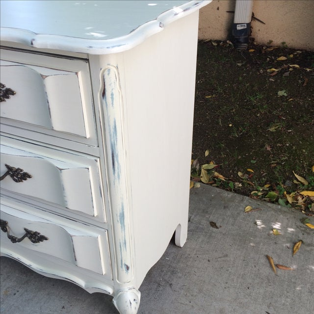 White French Provincal White Buffet Dresser For Sale - Image 8 of 11