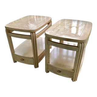 1980s Vintage Hammary Hollywood Regency End Tables-a Pair For Sale