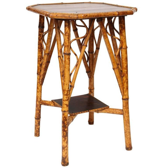 19th Century English Bamboo Lacquer Side Table - Image 6 of 6