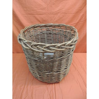 Vintage Monumental Round Willow Planter/Basket Preview