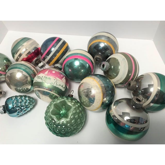 1950s Vintage 1950s Shiny Brite Glass Ornaments - Set of 14 For Sale - Image 5 of 8