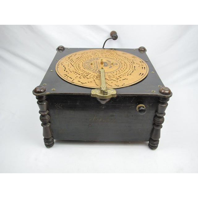 Rustic Ariston Organette Music Box Player With Punched Paper Records For Sale - Image 3 of 10