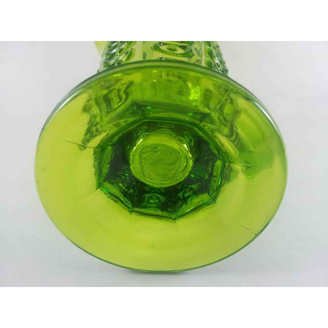 Viking Green Art Glass Bullseye Pitcher For Sale In Atlanta - Image 6 of 6
