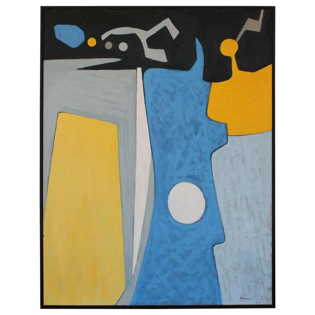 Paint 1972 Abstract Painting, Framed For Sale - Image 7 of 7
