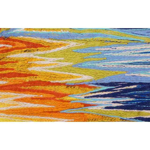 Beautiful Janet Kuemmerlein wall hanging. Janet is a Pioneer in the contemporary fiber art movement. She studied painting...