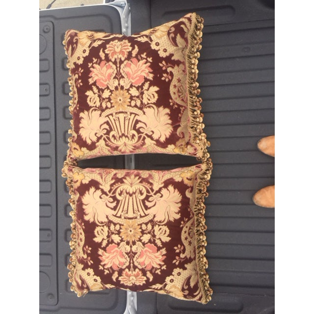 Traditional Traditional Janet Yonati Silk Velvet Pillows - a Pair For Sale - Image 3 of 12