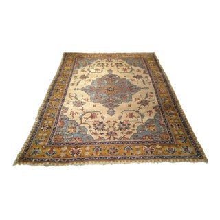 Early 20th Century Antique Turkish Oushak Rug - 8′2″ × 11′ For Sale