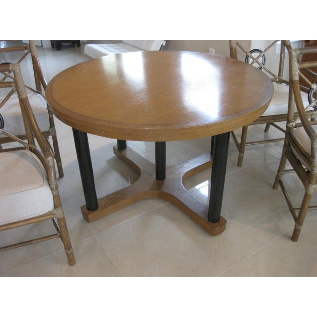 1990s McGuire Target Bamboo Chairs & Dining Table - Set of 5 For Sale - Image 5 of 12