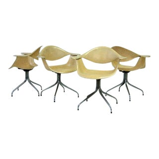 Vintage George Nelson for Herman Miller Leg Chairs - Set of 4