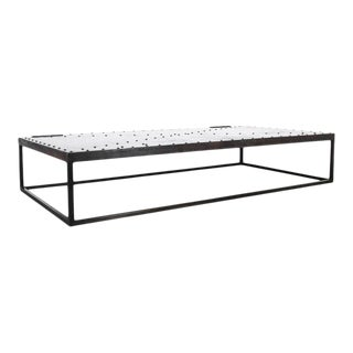 Riveted Iron Coffee Table For Sale