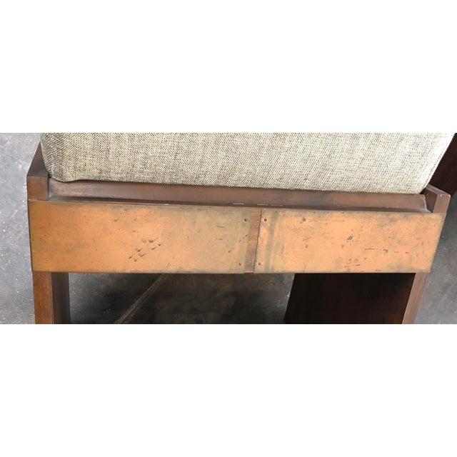 Metal Mid-Century Modern Lane Brutalist Side Chairs- A Pair For Sale - Image 7 of 12
