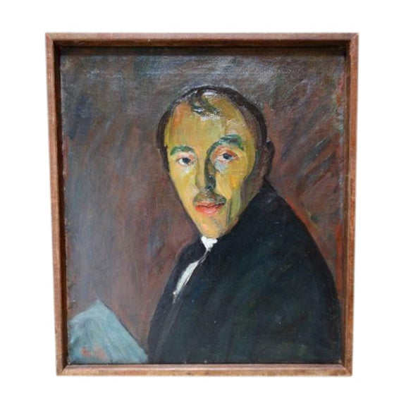 Self-Portrait Oil on Canvas by Ejnar Hansen - Image 1 of 7