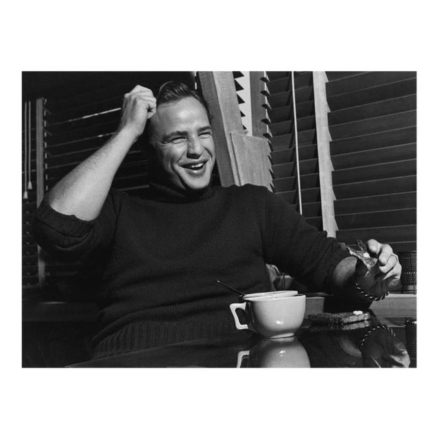 Marlon Brando at His Beverly Glen Home in Los Angeles 1953 For Sale