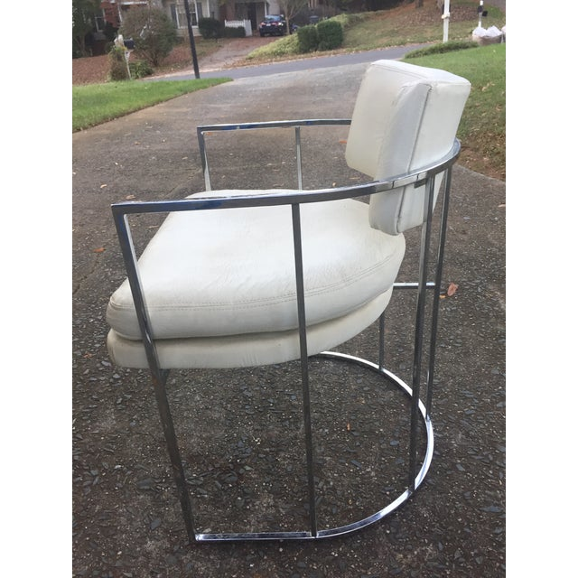 Thayer Coggin Chrome Chairs and Base - Image 6 of 11