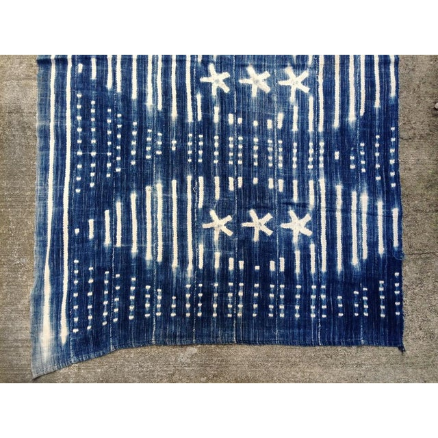 Vintage West African Indigo Throw - Image 5 of 6